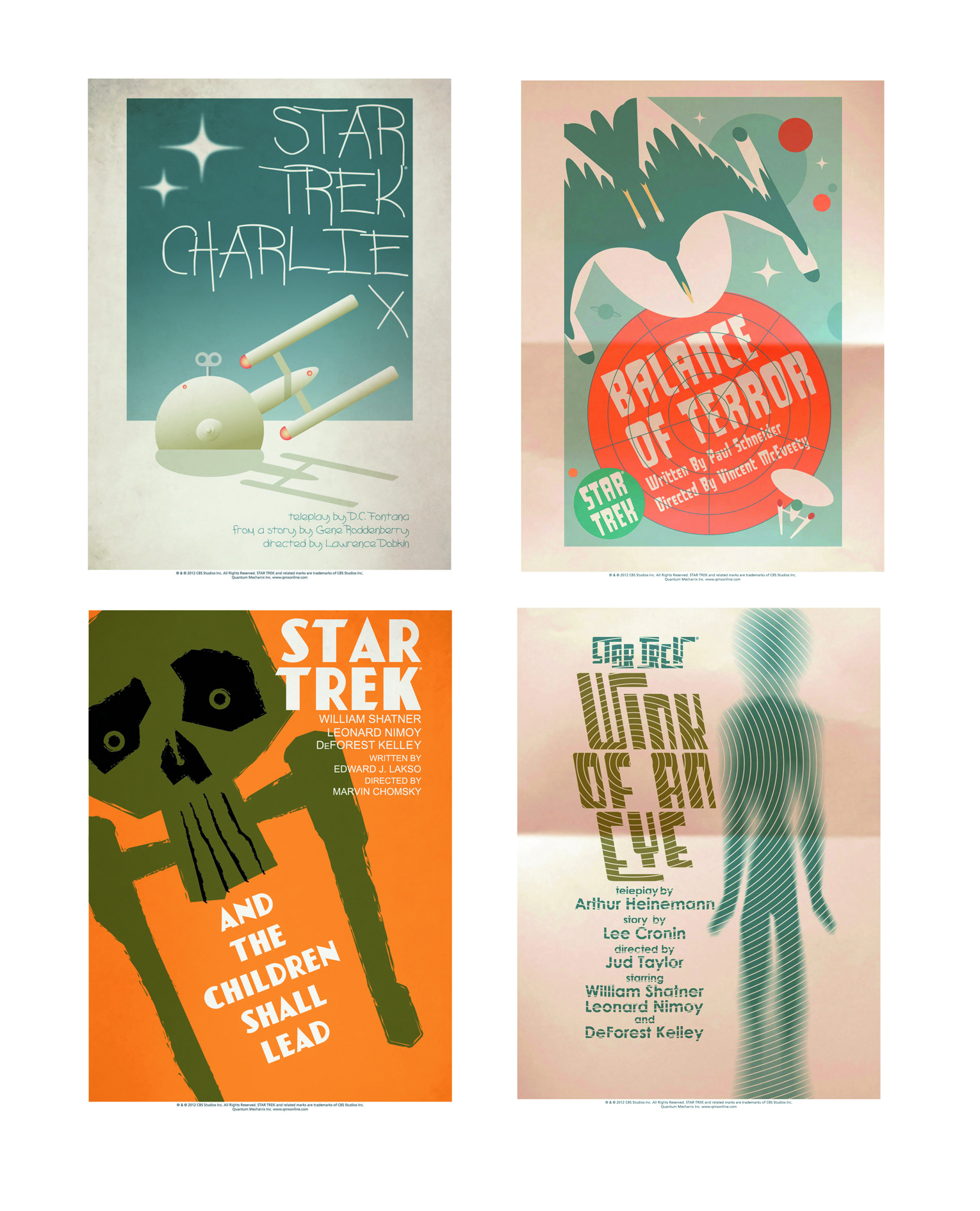 STAR TREK TOS ART PRINTS SET 2