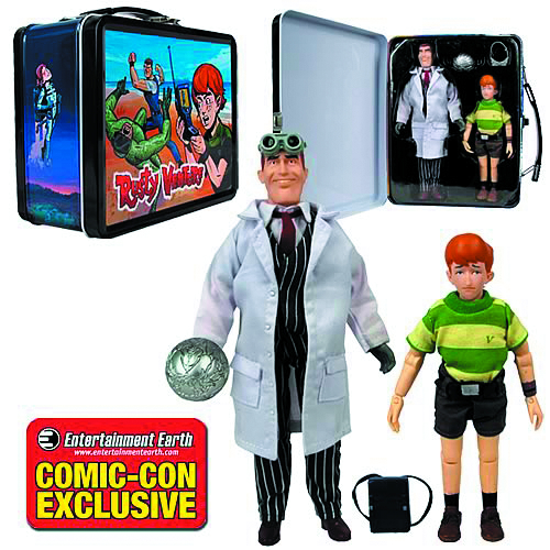 VENTURE BROS RUSTY/JONAS W/TIN TOTE SDCC SET