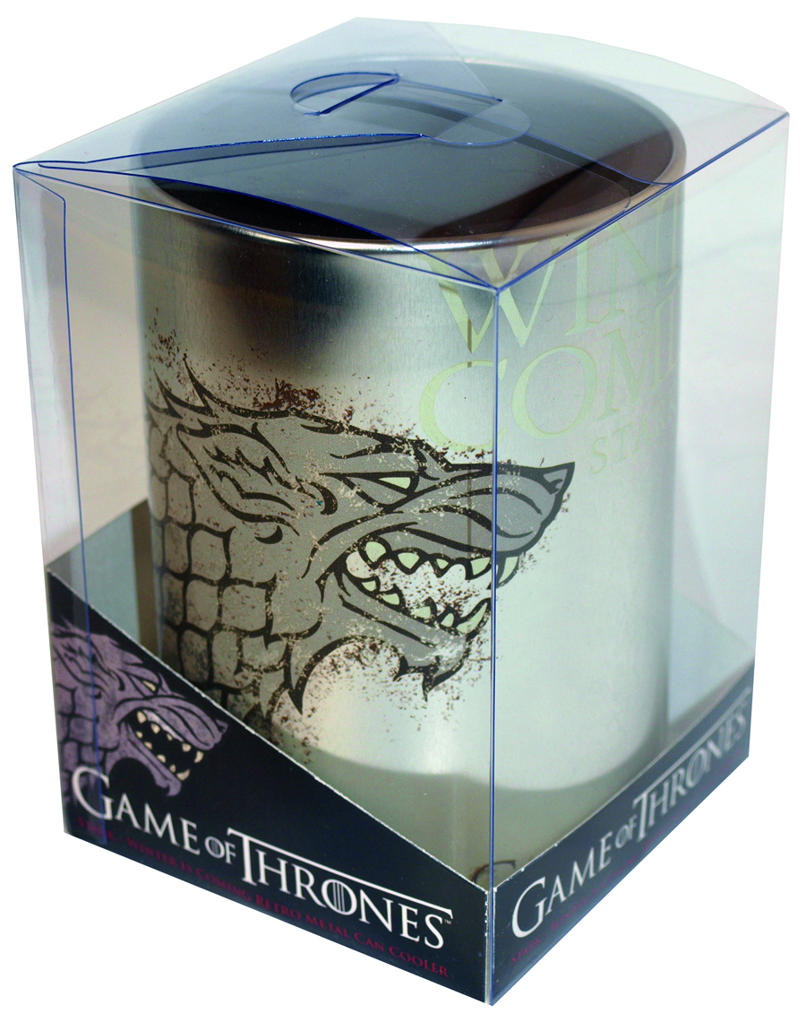 GAME OF THRONES STARK METAL CAN COOLER