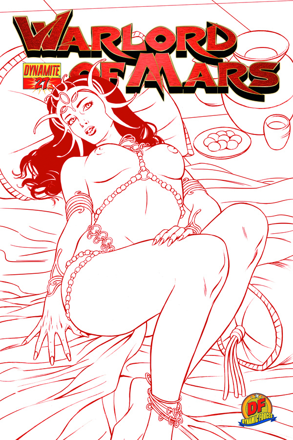 DF WARLORD OF MARS #27 RISQUE RED CVR