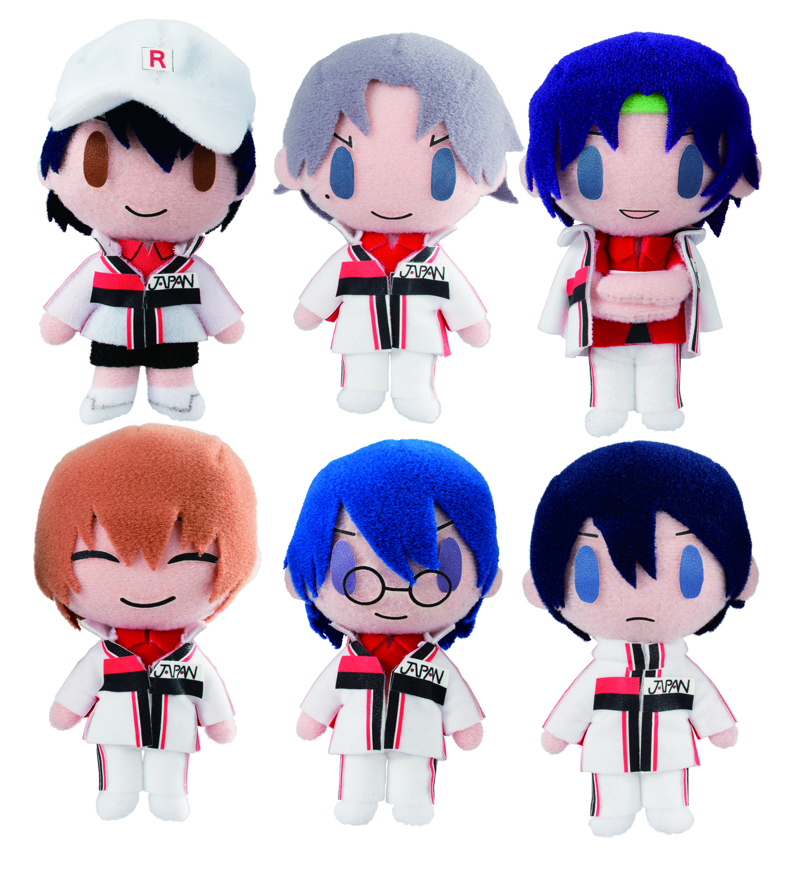 NEW PRINCE OF TENNIS GURUMITZ MINI PLUSH 6PC DS