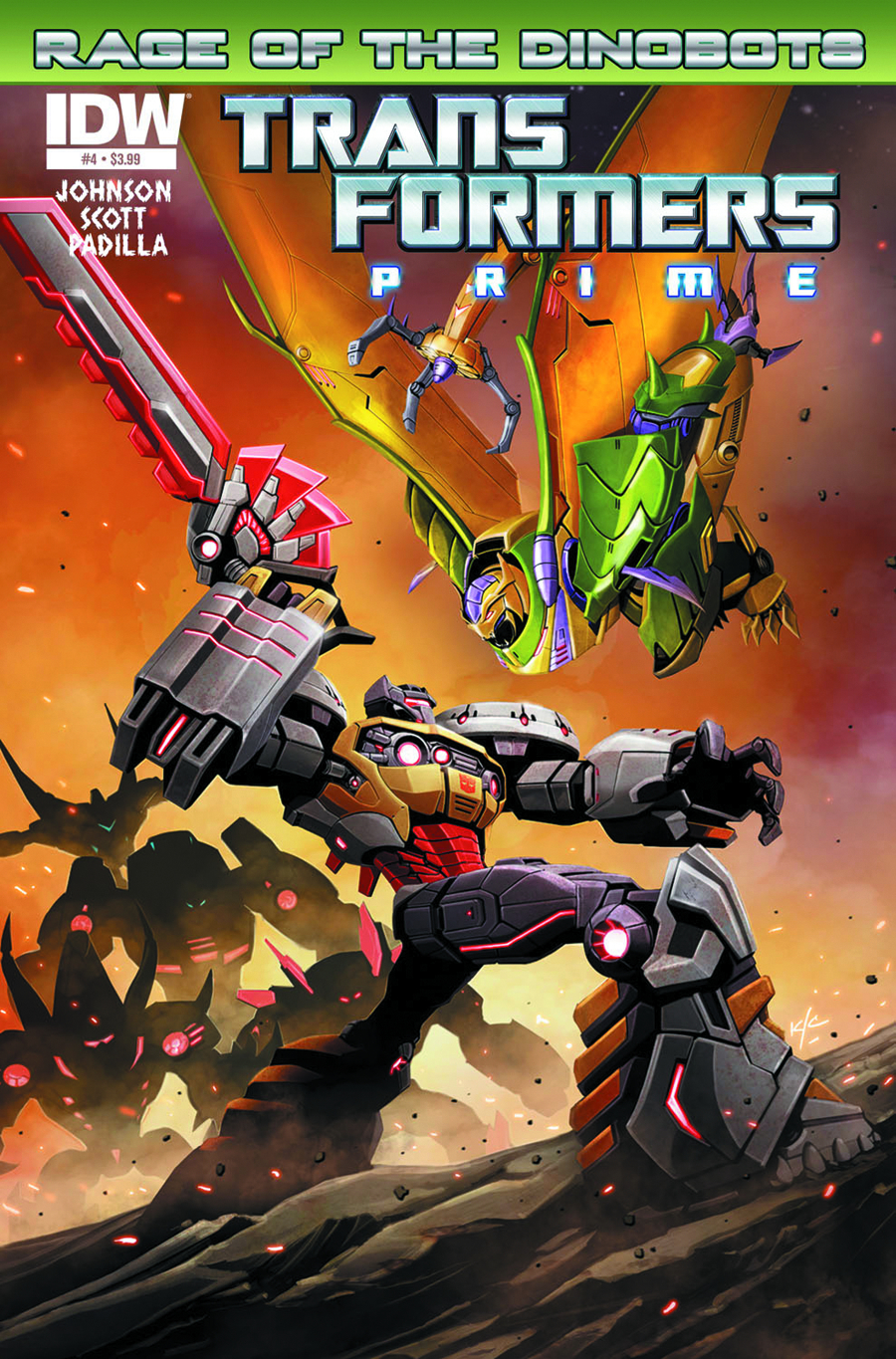 TRANSFORMERS PRIME RAGE O/T DINOBOTS #4