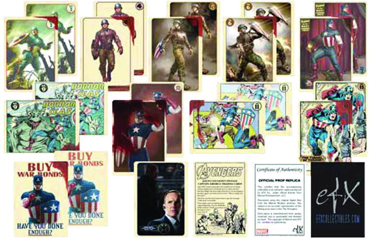 AVENGERS MOVIE COULSON CAPT AMERICA T/C SET