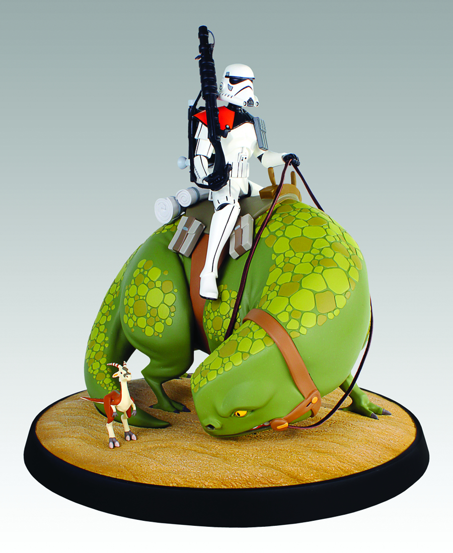 STAR WARS SANDTROOPER ON DEWBACK MAQUETTE