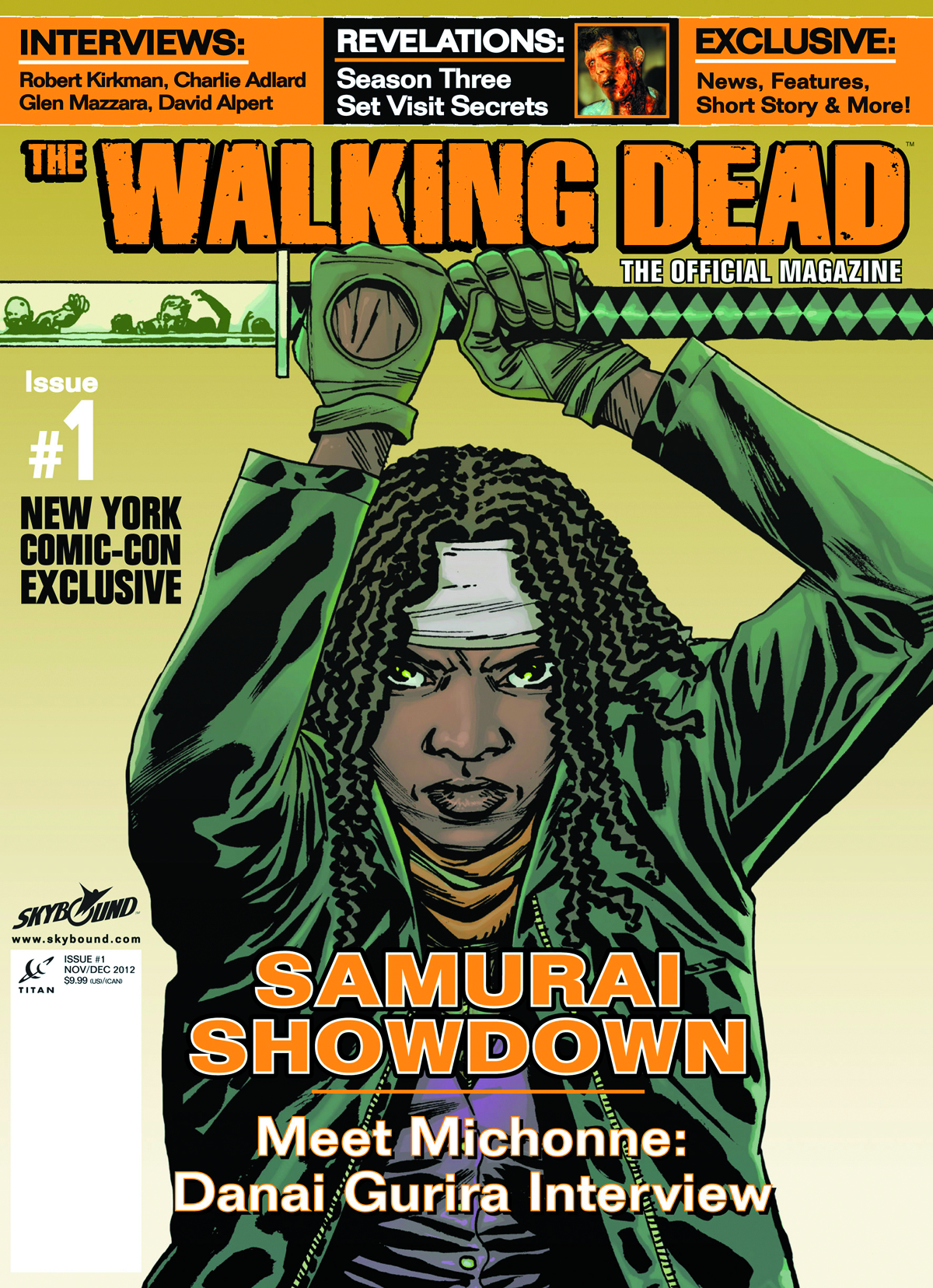 WALKING DEAD MAGAZINE #1 NYCC EXCLUSIVE COVER