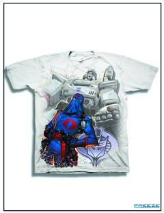 GI JOE X TRANSFORMERS EVIL UNITED PX WHT T/S MED