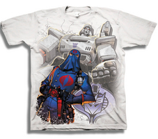 GI JOE X TRANSFORMERS EVIL UNITED PX WHT T/S LG