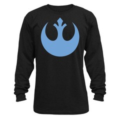 STAR WARS REBEL SYMBOL PX BLK THERMAL SHIRT LG