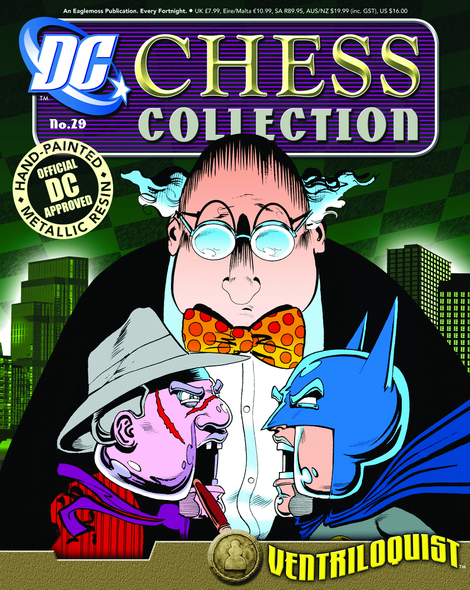DC SUPERHERO CHESS FIG COLL MAG #29 VENTRILOQUIST BLACK PAWN