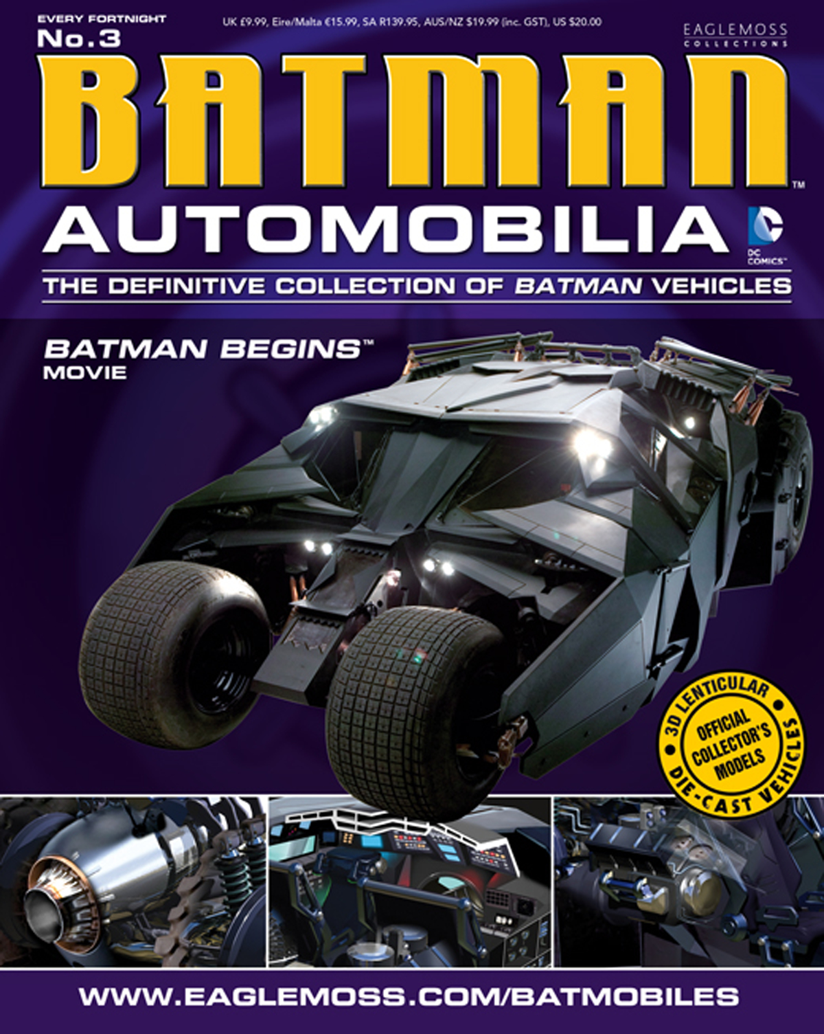 DC BATMAN AUTO FIG MAG #3 2005 BATMAN BEGINS BATMOBILE