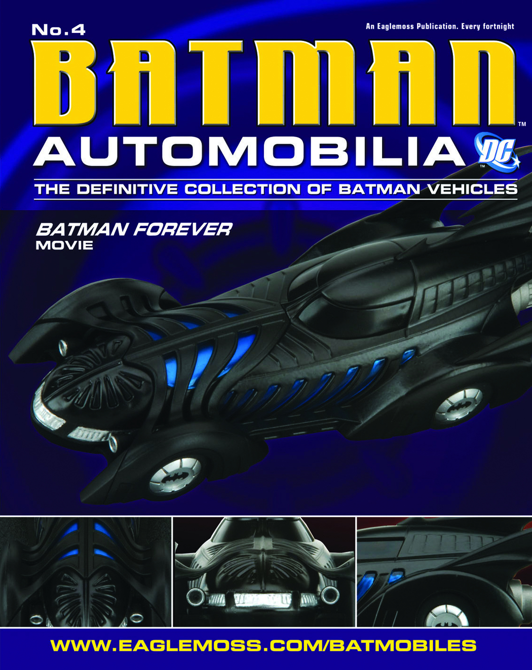 DC BATMAN AUTO FIG MAG #4 BATMAN FOREVER MOVIE BATMOBILE