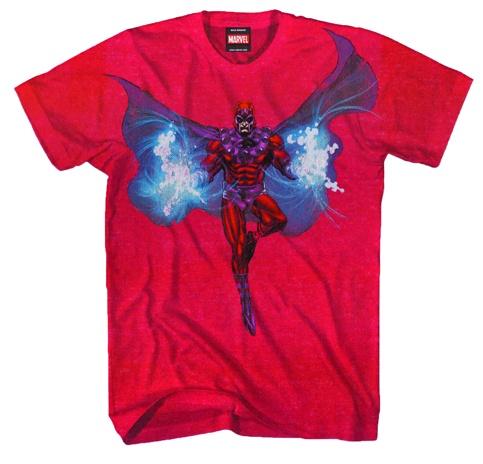 MAGNETO MAG WINGS RED HEATHER T/S LG