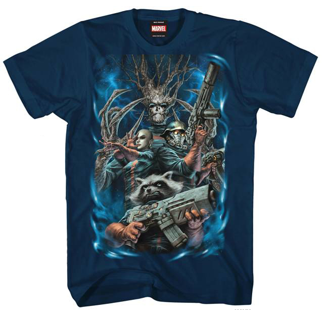 GUARDIANS OF THE GALAXY 4 GUARDIANS NVY T/S MED