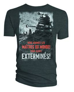 DOCTOR WHO DALEK EXTERMINES PX CHARCOAL T/S MED