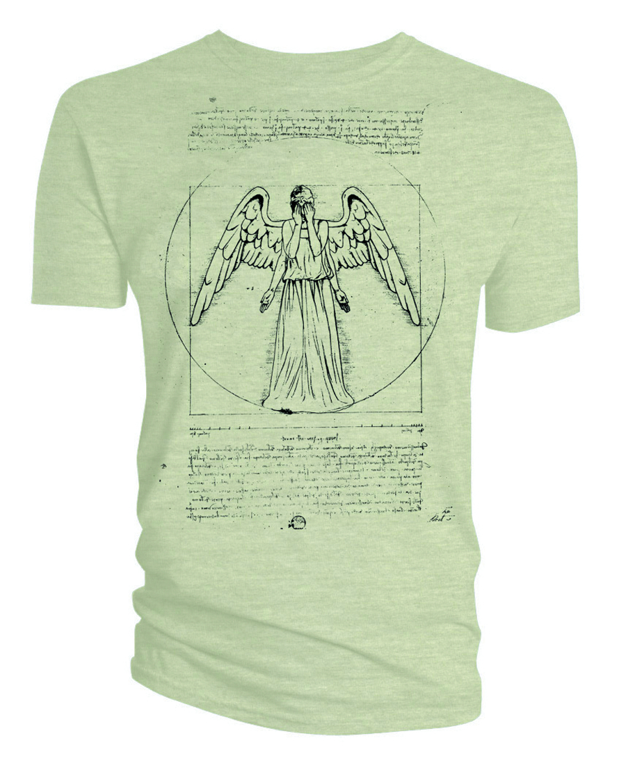 DOCTOR WHO VIRTUVIAN WEEPING ANGEL T/S MED