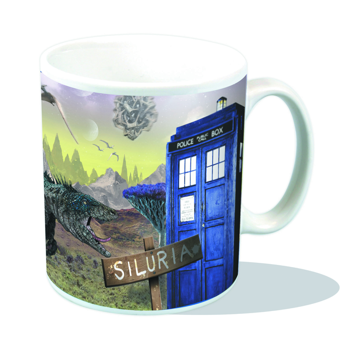 DOCTOR WHO SILURIA POSTCARD MUG