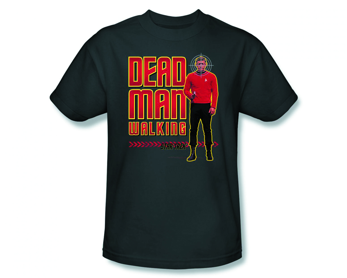 STAR TREK DEAD MAN WALKING CHARCOAL T/S MED