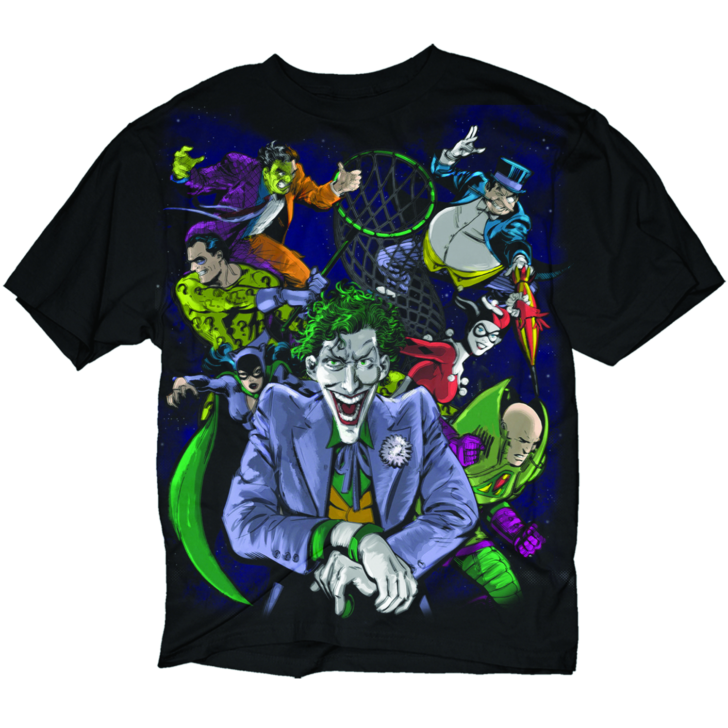 DC HEROES REVERSIBLE GOOD VS EVIL BLK T/S XL