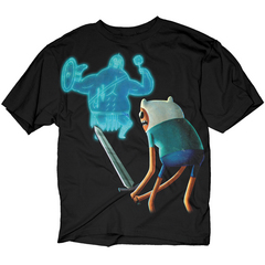 ADVENTURE TIME FINN VS GLADIATOR PX BLK T/S LG