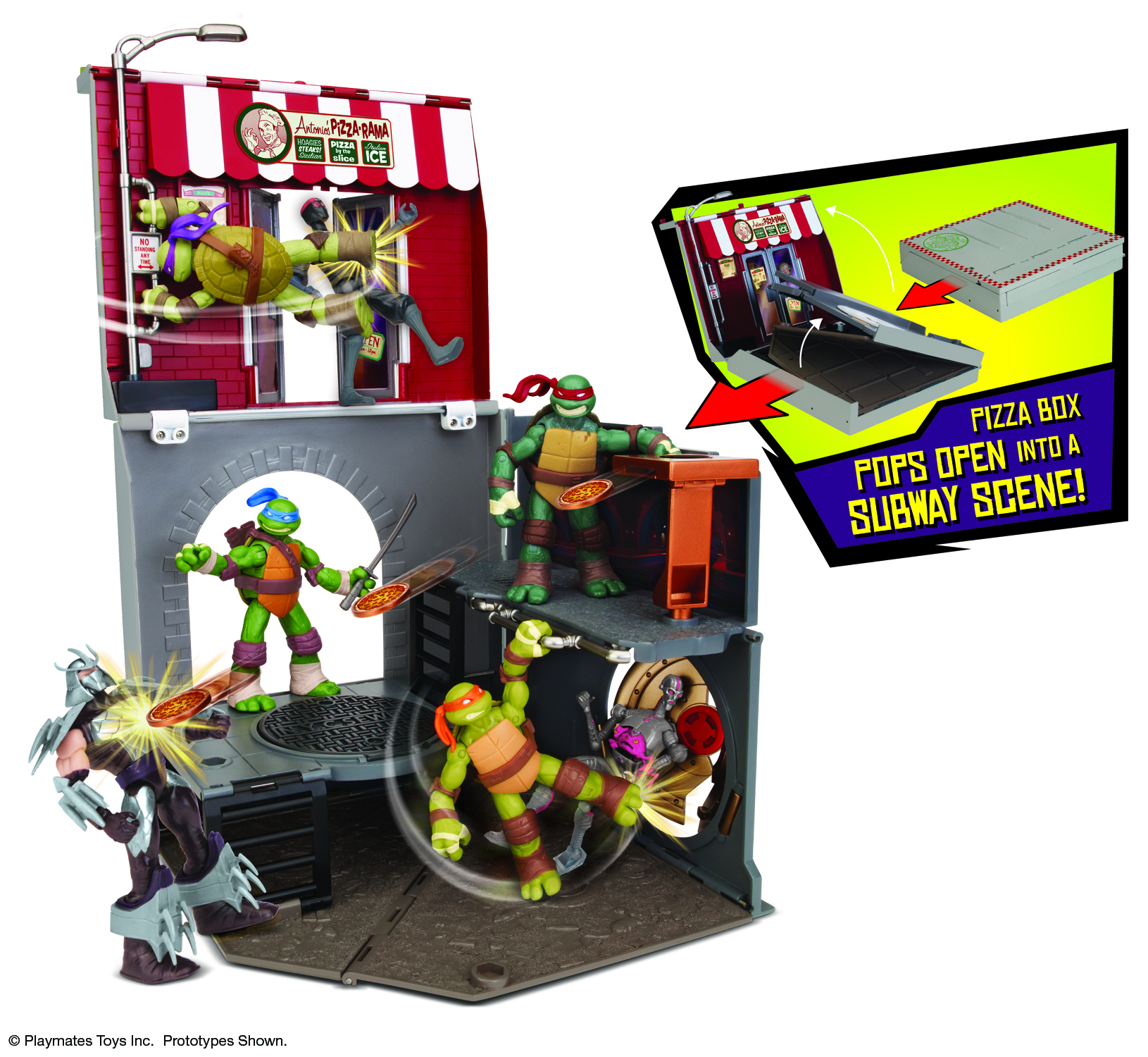 TMNT POP-UP PIZZA PLAYSET ASST