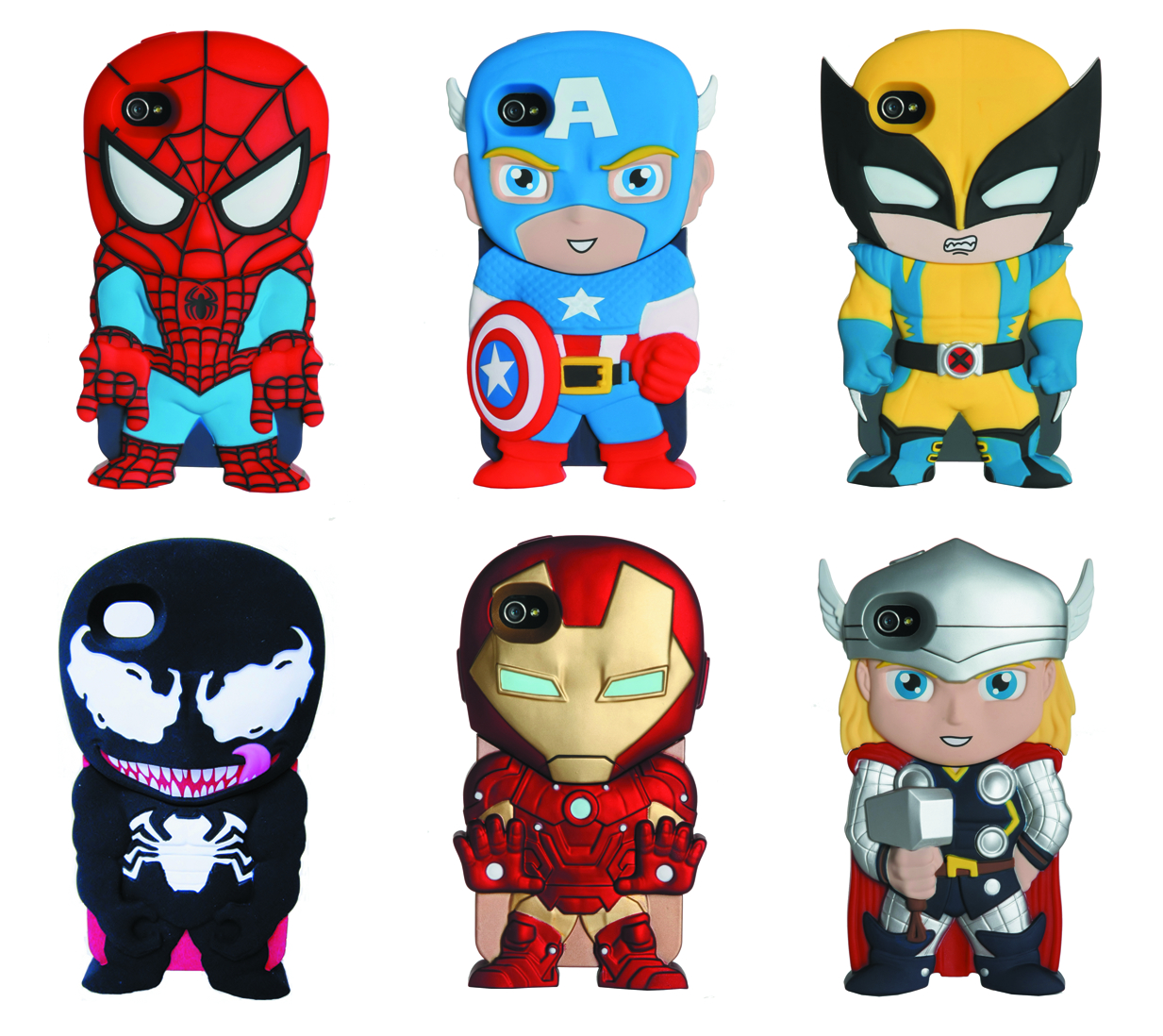 MARVEL CHARA-COVERS IPHONE 4/4S 12PC CASE ASST
