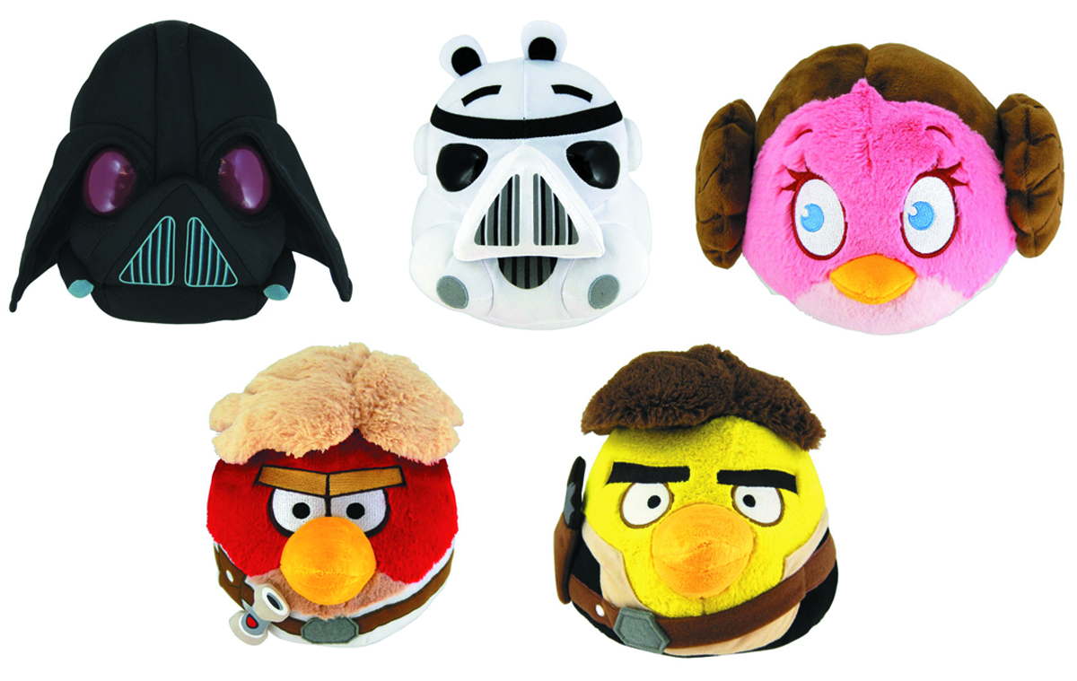 ANGRY BIRDS STAR WARS 5-IN PLUSH ASST