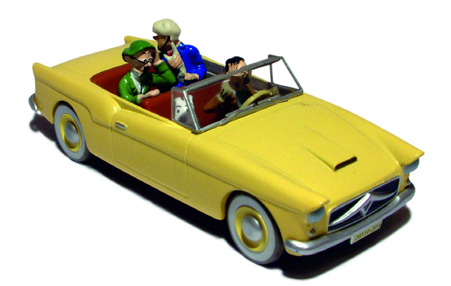 TINTIN TRANSPORTS- EN VOITURE BORDURE #16