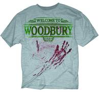 WALKING DEAD WELCOME TO WOODBURY PX HEATHER T/S LG