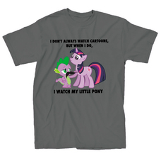 MY LITTLE PONY I WATCH MLP CHARCOAL PX T/S MED