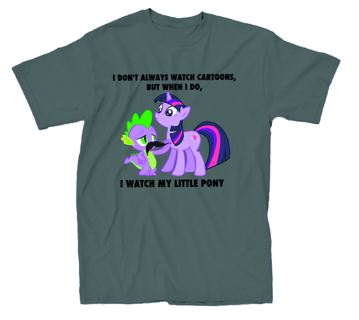 MY LITTLE PONY I WATCH MLP CHARCOAL PX T/S LG