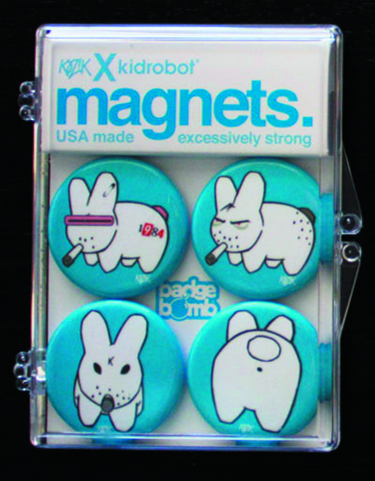 SMORKIN LABBITS BLUE BACKGROUND MAGNET 4PK