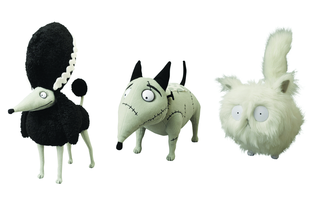 FRANKENWEENIE PLUSH 3PC ASST