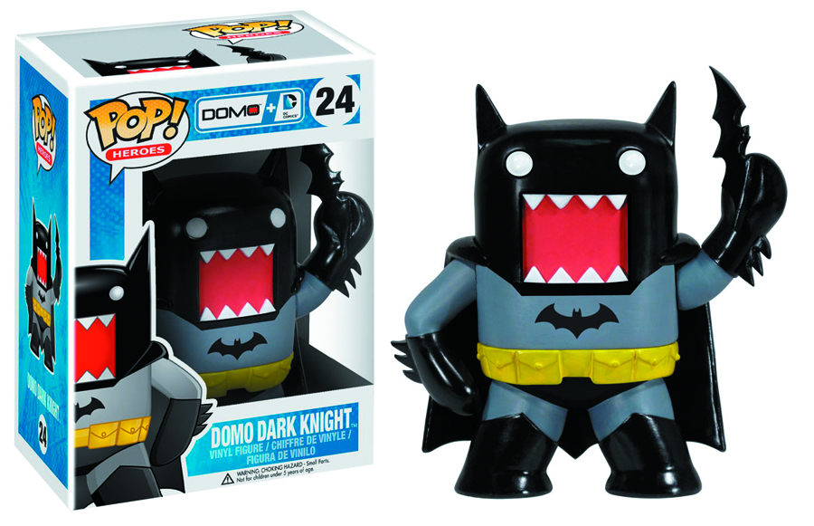 POP DOMO + DC COMICS BATMAN VINYL FIG BLK VER
