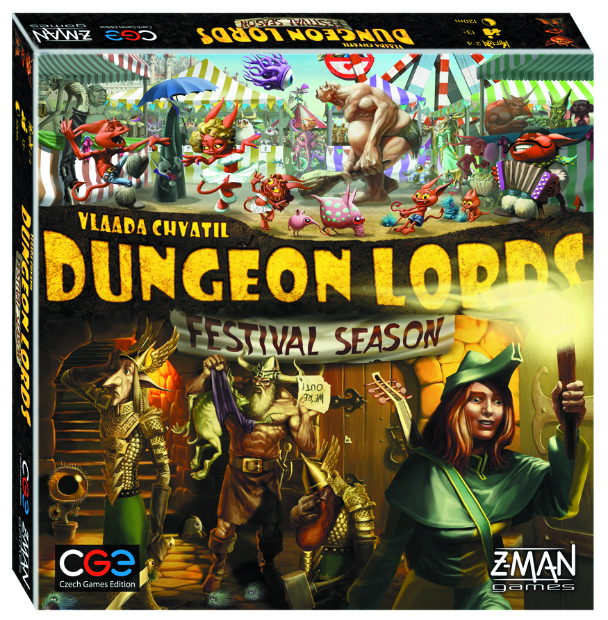 DUNGEON LORDS FESTIVAL SEASON BOARD GAME EXP