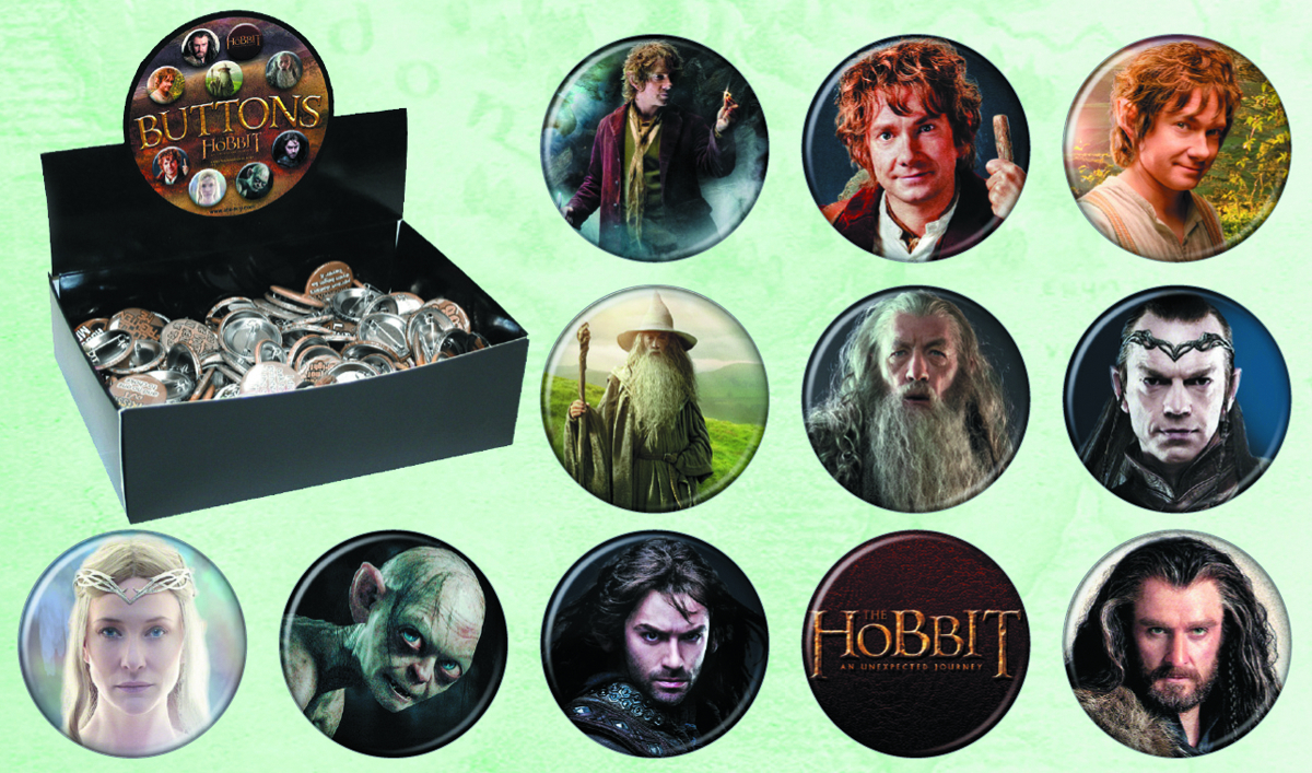 HOBBIT UNEXPECTED JOURNEY 144PC BUTTON ASST