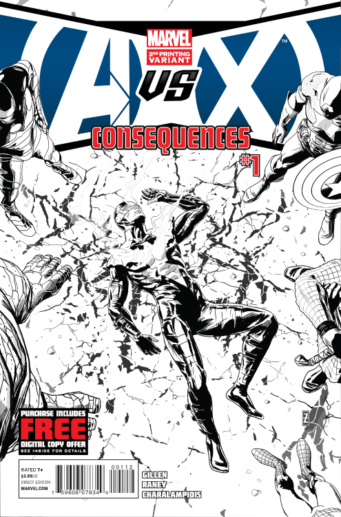 AVX CONSEQUENCES #1 (OF 5) 2ND PTG ZIRCHER VAR (PP #1048)