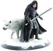 GAME OF THRONES STATUE JON SNOW & GHOST