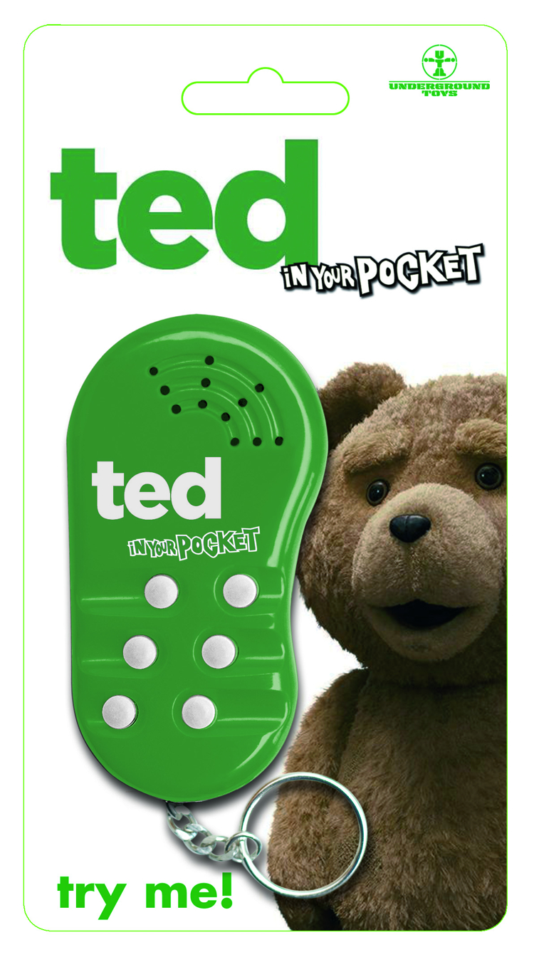 TED IN YOUR POCKET TALKING KEY CHAIN