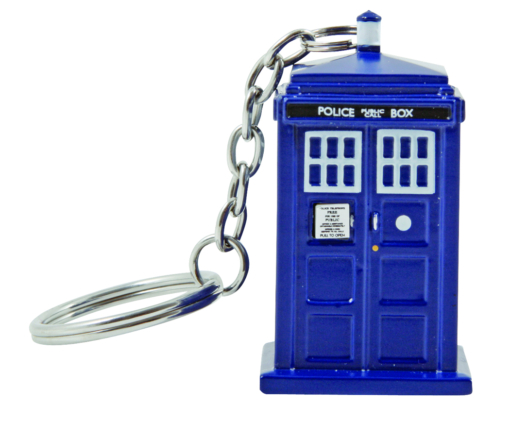 DOCTOR WHO 3D MOLDED TARDIS KEYCHAIN TORCH