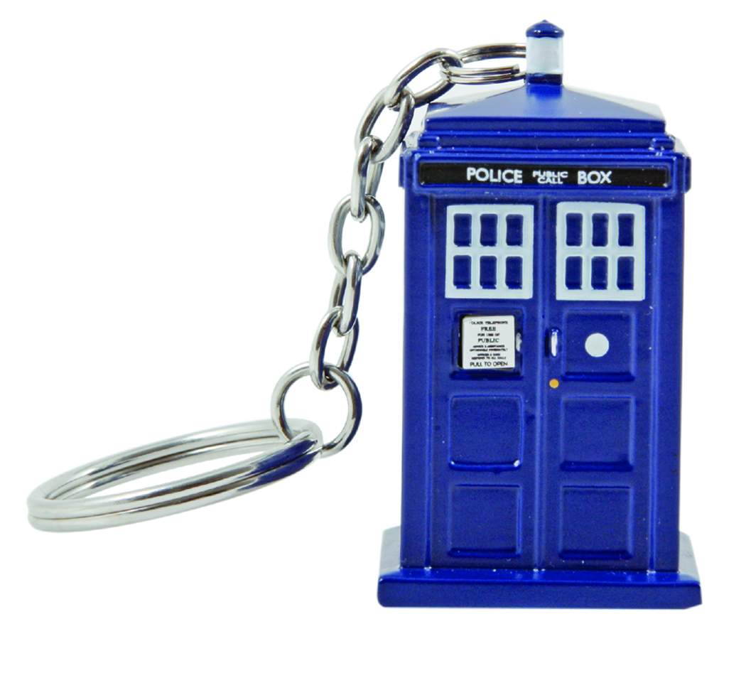 DOCTOR WHO 3D MOLDED TARDIS KEYCHAIN