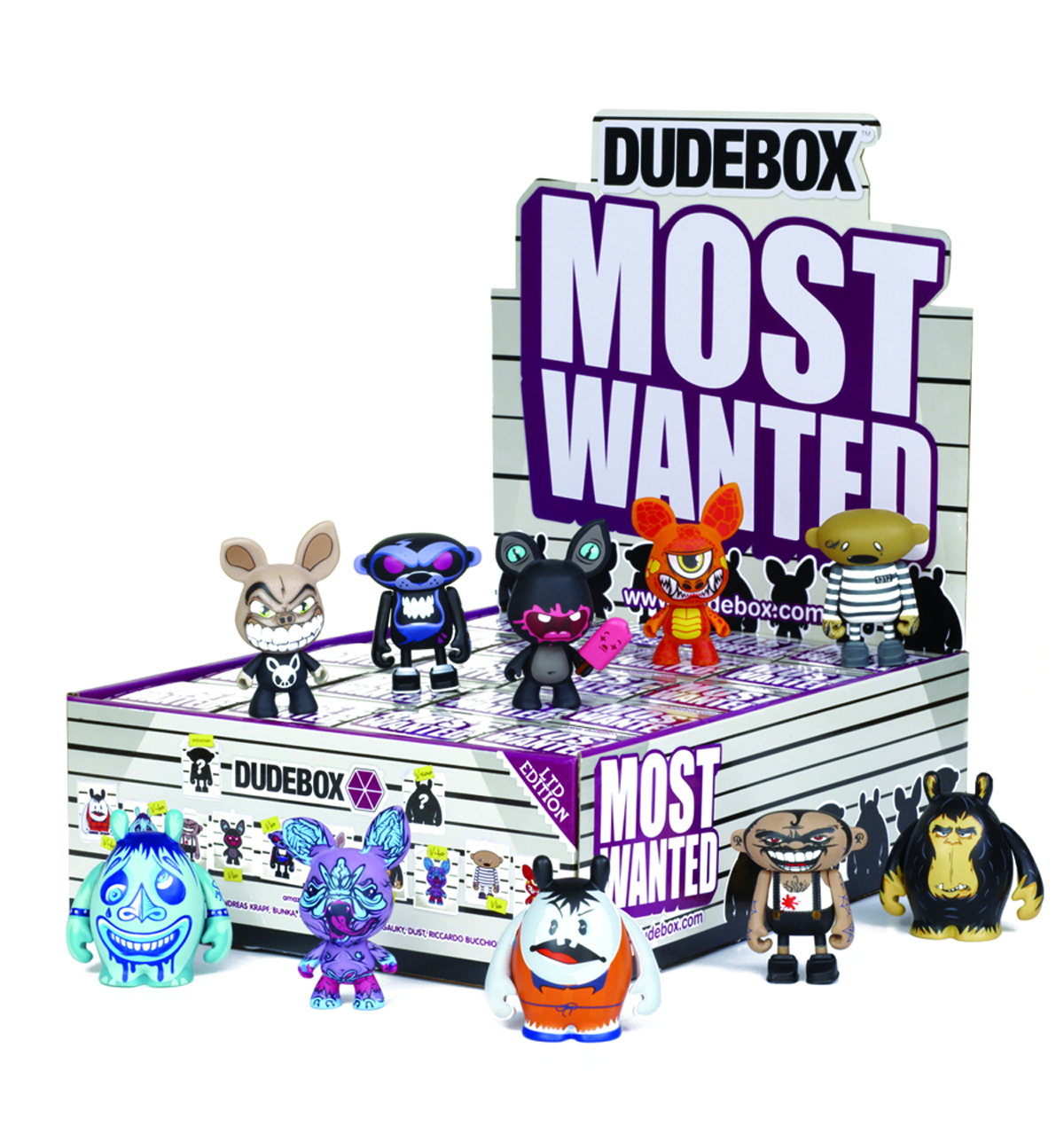 DUDEBOX MOST WANTED MINI FIG 20PC BMB DS