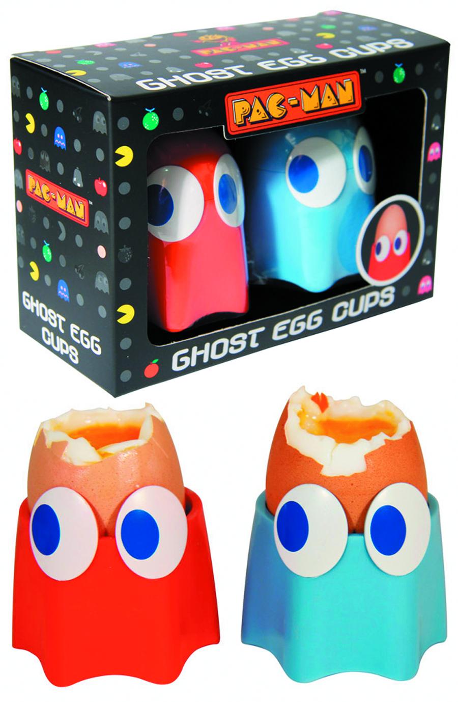 PAC-MAN GHOST EGG CUPS 2 PACK