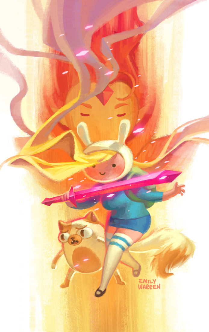 DF ADVENTURE TIME FIONNA & CAKE #1 EXC CVR