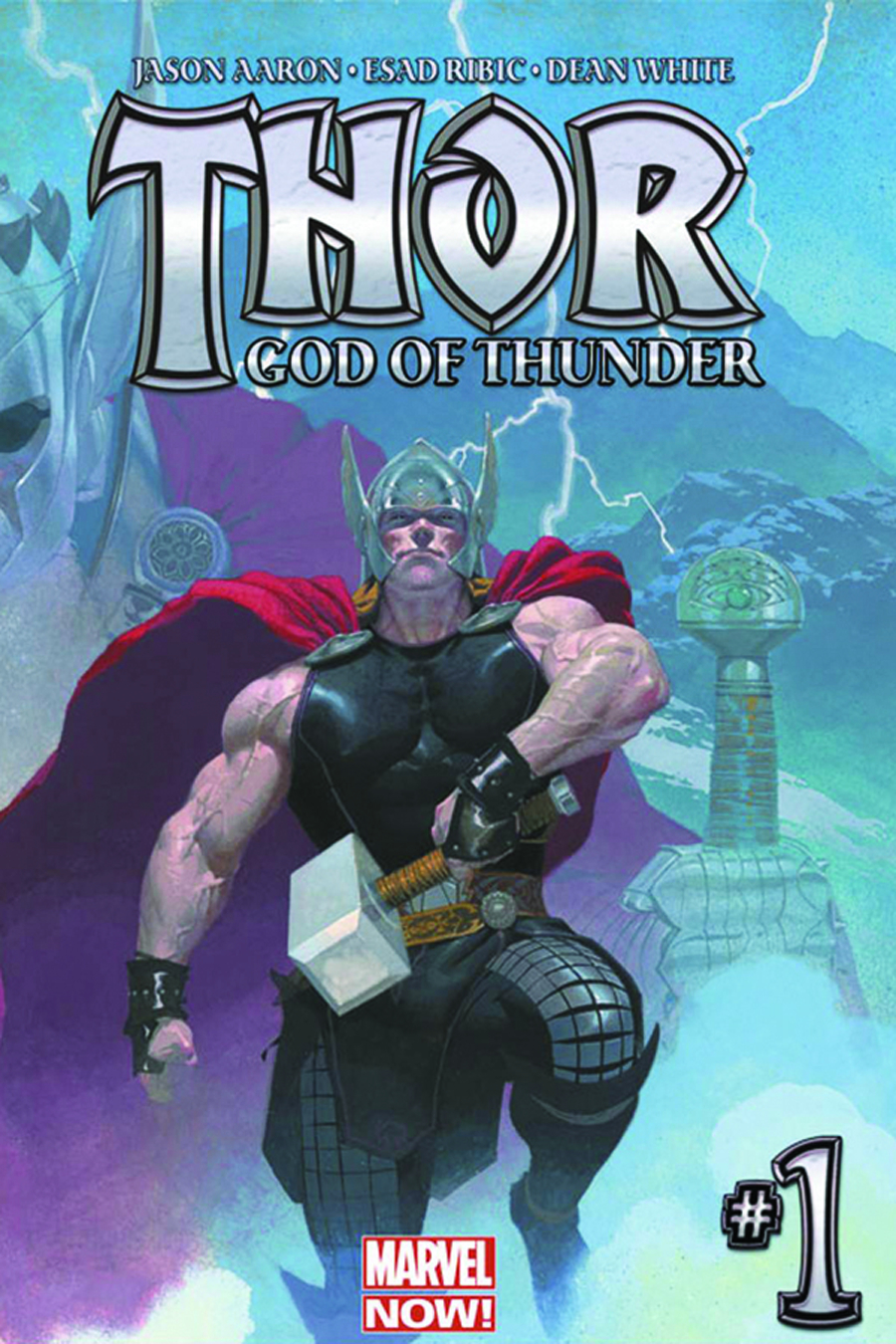 DF THOR GOD OF THUNDER #1 AARON SGN ED