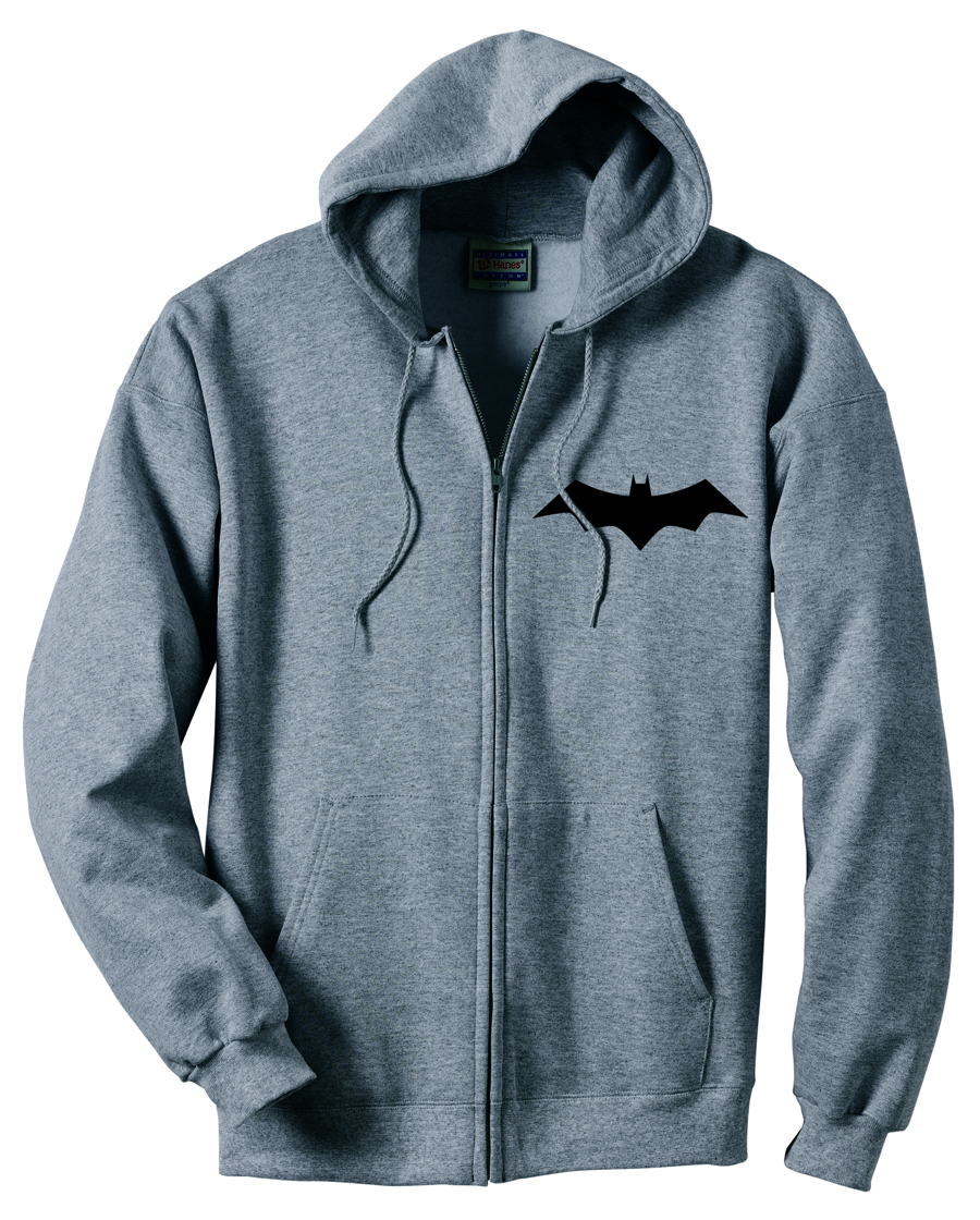 ANIMATED BATMAN SYMBOL ZIP HOODIE XL