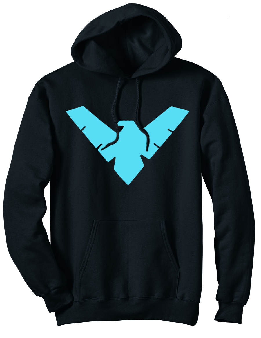 ANIMATED NIGHTWING SYMBOL HOODIE MED