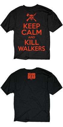 WALKING DEAD KEEP CALM KILL WALKERS PX BLK T/S MED