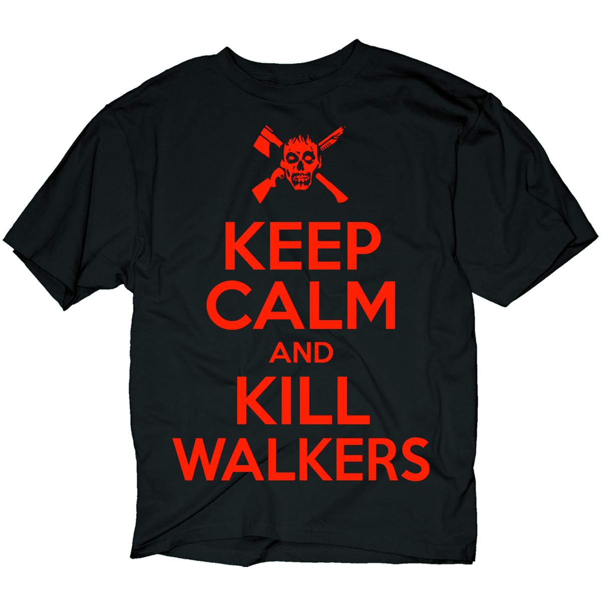WALKING DEAD KEEP CALM KILL WALKERS PX BLK T/S LG