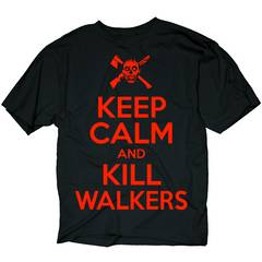 WALKING DEAD KEEP CALM KILL WALKERS PX BLK T/S XXL