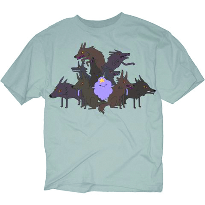 ADVENTURE TIME LSP WOLVES PX SILVER T/S MED